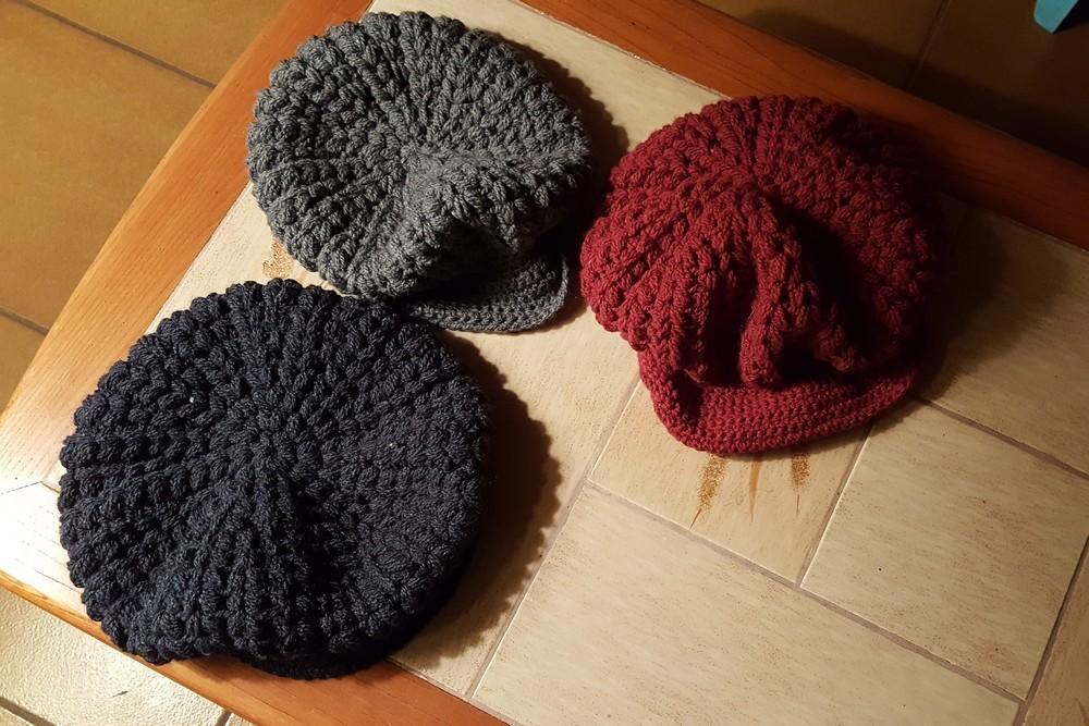 Mes nouvelles casquettes au crochet...