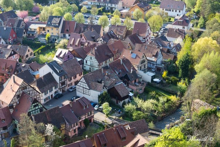 Kaysersberg 68 : 5/6 Vue sur la ville et environs