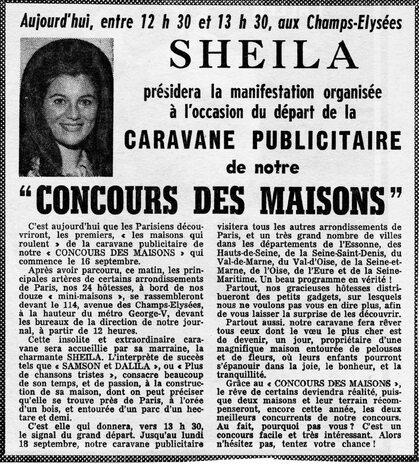 07 septembre 1972 : Vent de folie sur les Champs-Elysées !