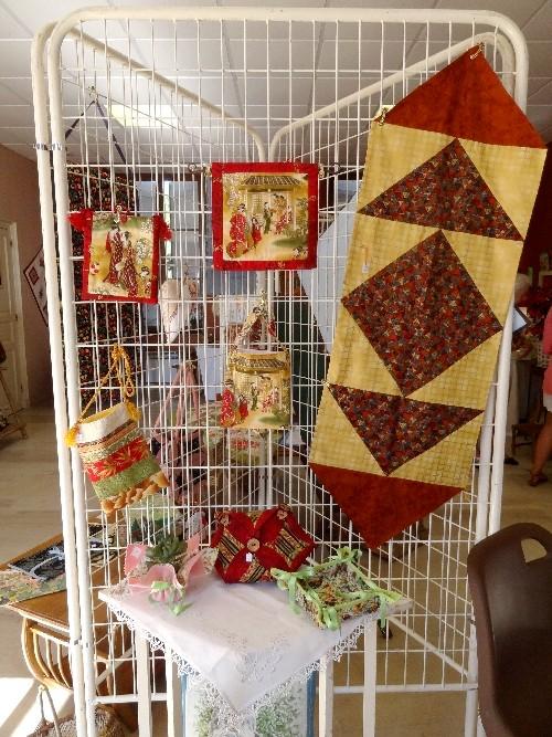 L'exposition 2012 de patchwork et d'artisanat d'art à Meulson