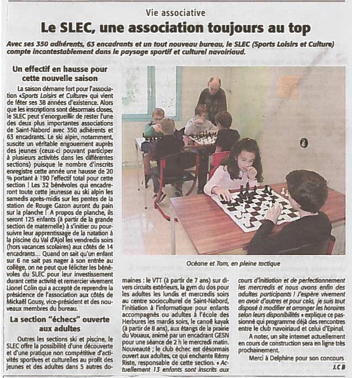 Article l'Echo des Vosges Octobre 2019
