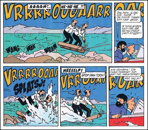 Tintin et le lac aux requins - version couleurs 44 planches
