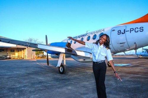 Meet 19 year old female pilot, Besa Mumba.
