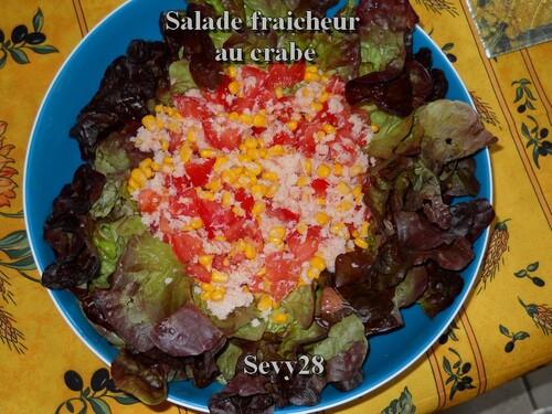 Salade fraicheur au crabe