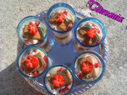 Verrine mascarpone fraise speculos