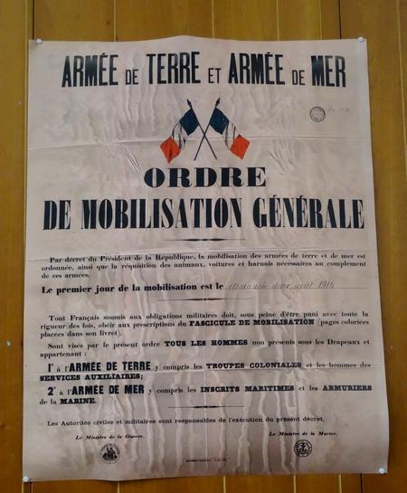 """""""1914, Le canton se mobilise"""", une remarquable exposition, présentée par les Amis du canton d'Aignay le Duc"""