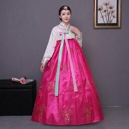 2017 broderie coréenne robe traditionnelle femmes hanbok coréen costume  national scène performance costumes | AliExpress