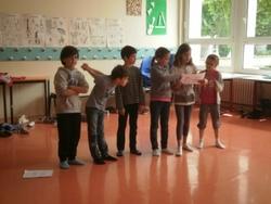 """Notre projet """"Lecture théâtralisée"""" avec Mathilde et notre dernière représentation..."""