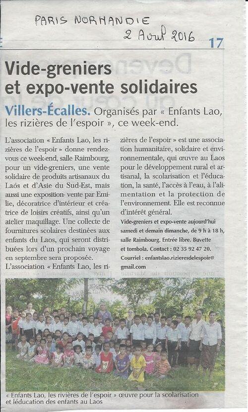 Article Paris Normandie - Vide grenier 2016 (2)