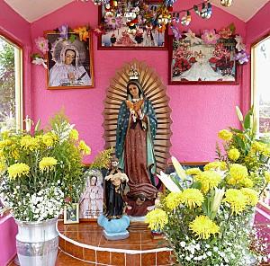 Mexico Xochimilco autel Vierge 2