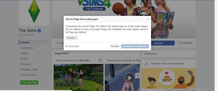 Petit tutoriel pour avoir la page Facebook Sims en Français depuis les Antilles