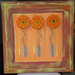 Peintures acryliques et techniques mixtes