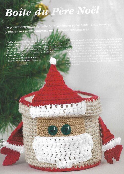 La boîte du Père Noël au crochet