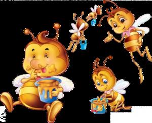Tubes abeilles en png
