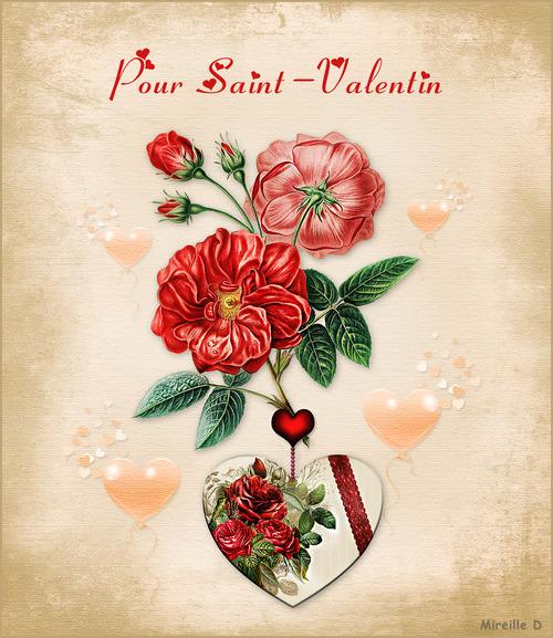 Carte pour Saint-Valentin
