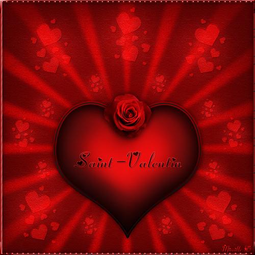 Coeur Passion de Saint-Valentin et Piano