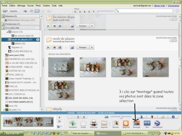 créer une mosaïque sur Picasa - tutoriel