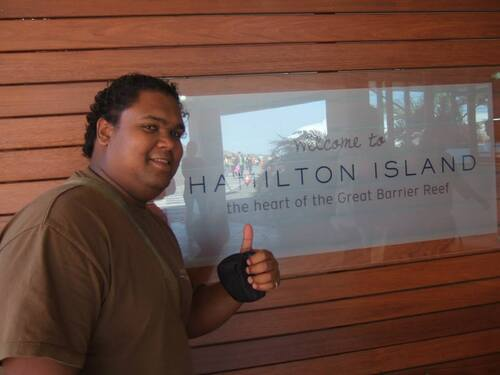 Arrivé à Hamilton Island