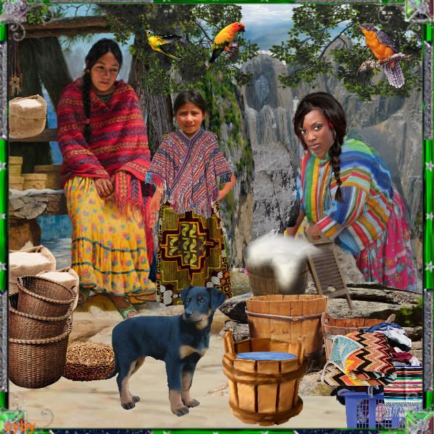 femmes de Tarahumara (état chihuahua)