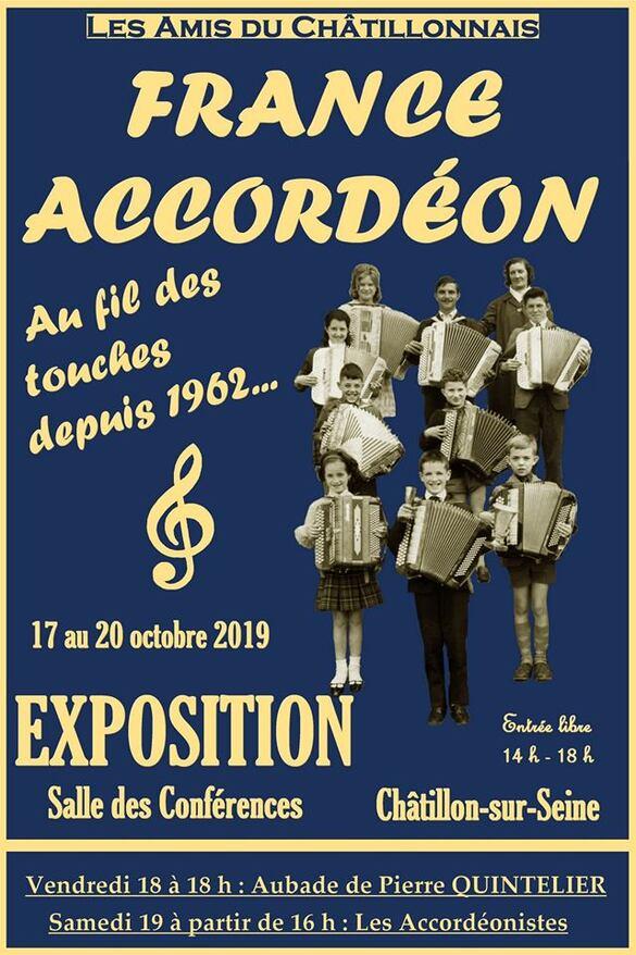 """Une magnifique exposition """"France Accordéon au fil des touches"""" a ravi le public Châtillonnais !"""