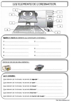 Les éléments de l'ordinateur