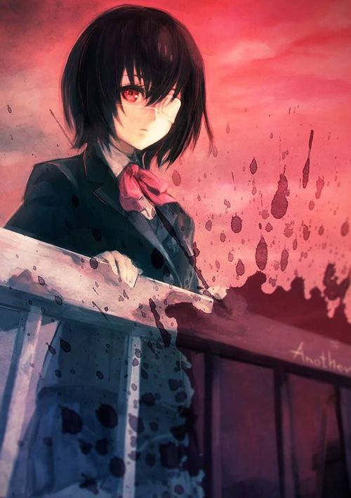 Image de another, anime, and misaki mei