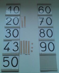 Atelier Montessori Mathématiques : les tables de Seguin 1 et 2