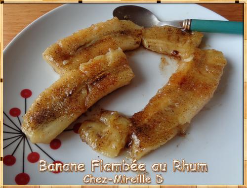 Banane Flambée au Rhum