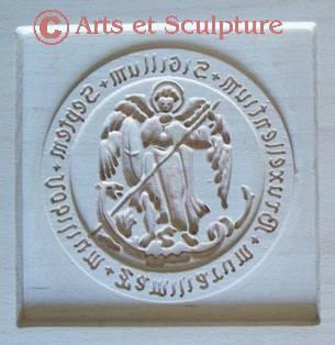 moule speculoos personnalisé Saint Michel - Arts et Sculpture: sculpteur sur bois