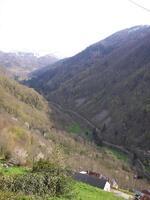 """La vue de la vallée depuis le hameau de """"La Ruse"""""""