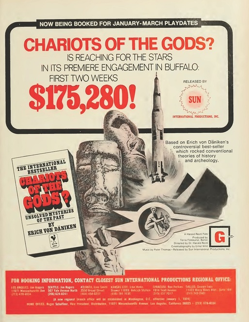 THE CHARIOT OF THE GODS BOX OFFICE USA 1974