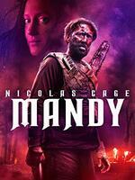 Mandy : En 1983, un homme, Red Miller, vit avec sa petite amie artiste Mandy dans les bois dans le Nord-Ouest Pacifique, isolée du monde. Un jour, elle est attirée par Jeremiah Sand, un chanteur folk devenu le gourou d'une secte. Avec l'aide d'une bande de bikers, les Black Skulls, Sand la kidnappe mais Mandy, après s'être moquée de lui, est brûlée vive sous les yeux de Red impuissant. Ivre de vengeance, Red assemble un arsenal d'armes improbables pour se venger de Sand et de ses admirateurs. Mais, peu à peu, le monde se modifie et ressemble à une peinture de sa fiancée défunte... Aux frontières du réel, rien ne l'arrêtera pour mener sa vendetta. ... ----- ...  Origine : U.S.A.   Réalisation : Panos Cosmatos   Durée : 2h01   Acteur(s) : Nicolas Cage, Andrea Riseborough, Linus Roache   Genre : Action,Thriller,   Date de sortie :   Distributeur :   Titre original : Mandy   Critiques Spectateurs : 2.6