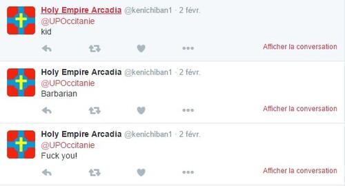 [STUPID WAR] : Arcadia insulte ( une nouvelle fois ) l'Occitanie.