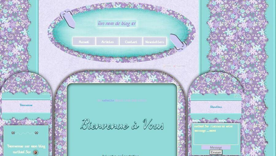 Fleuri Violet et bleu