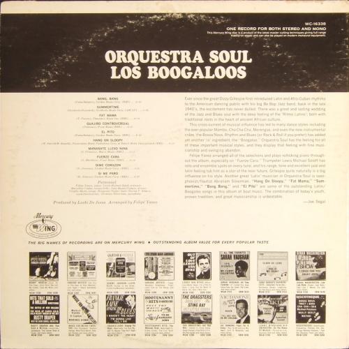 """Soul Orquestra : Album """" Los Boogaloos """" Mercury Records WC 16338 [ US ]"""