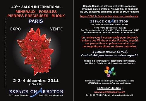 Salon Minéraux Paris - 2-3-4 déc. 2011