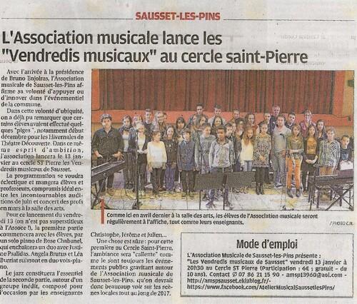 Article paru dans la Provence du 12-01-17