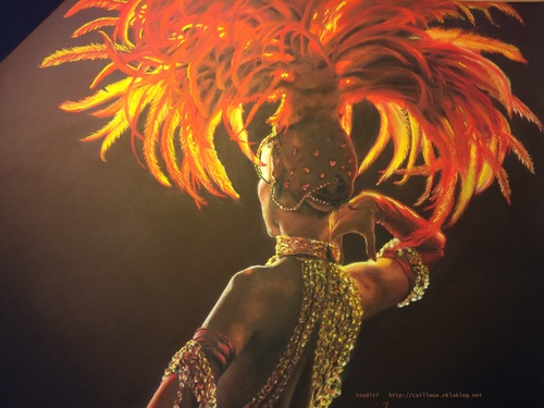 Danseuse du Moulin Rouge au pastel sec