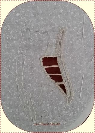 Coeur et carte brodés ,,, coeur tissu et crochet