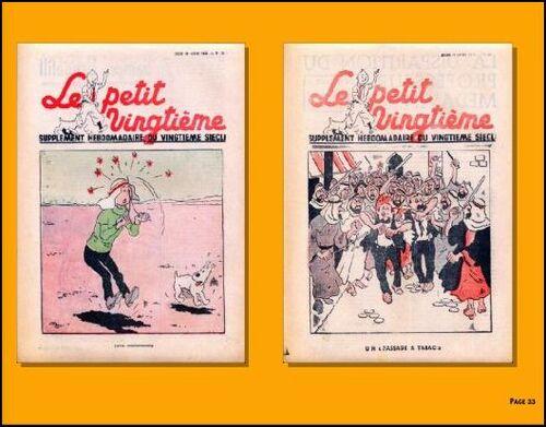 Tintin au pays de l'or noir - version inédite petit XXième - planche couleur