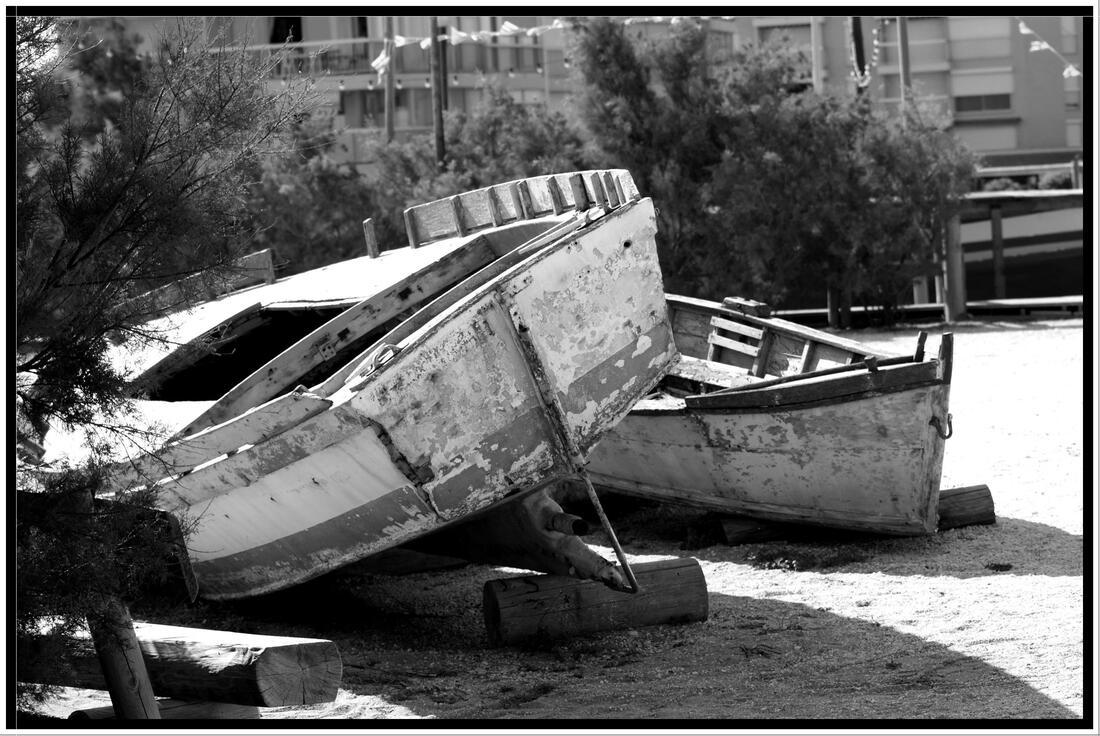 Défi noir et blanc : les bateaux du Barcarès