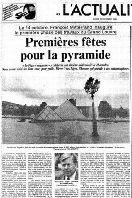 Le Louvre recevait sa pyramide