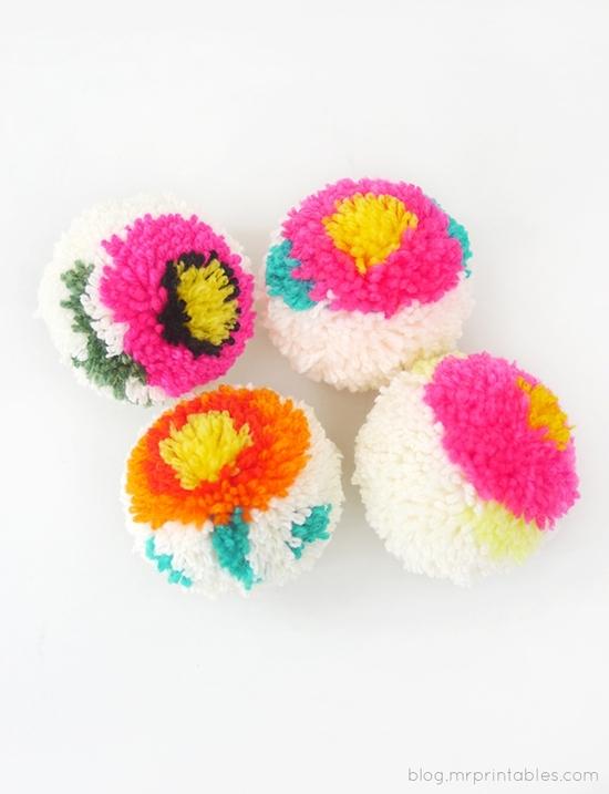 flower-pompoms