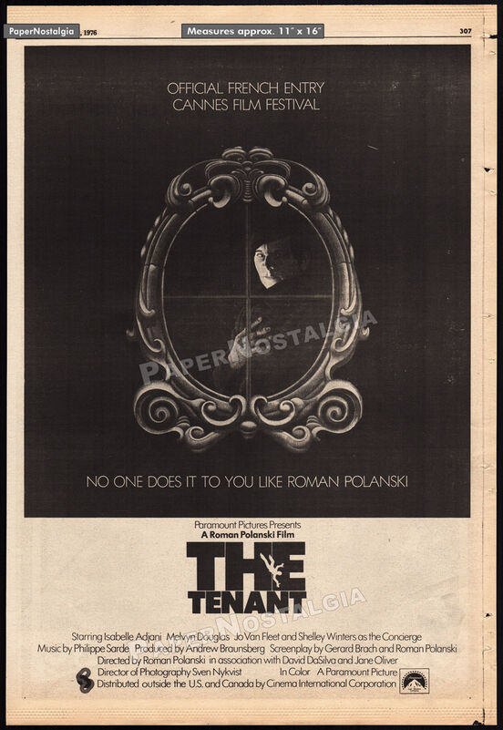 LE LOCATAIRE BOX OFFICE USA 1976