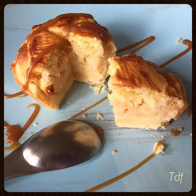 Apple pie aux coings et coulis de caramel beurre salé
