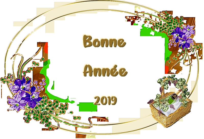 Bonne année 2019 png