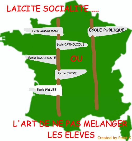 GRIGNOTAGE DE LA LOI 1905 : LE PS TRAHIT L'ECOLE PUBLIQUE ET LA LAICITE.