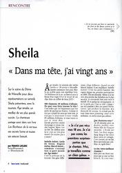 Actualité Sheila 2017 / MAJ du 31 janvier (interview NICE-MATIN du 27/01)