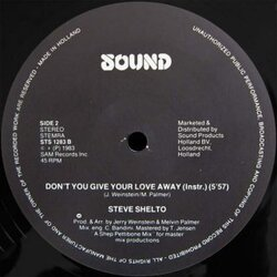 Steve Shelto - Don't You Give Your Love Away (Instrumental)