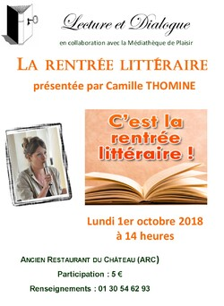 Présentation Rentrée littéraire septembre 2018